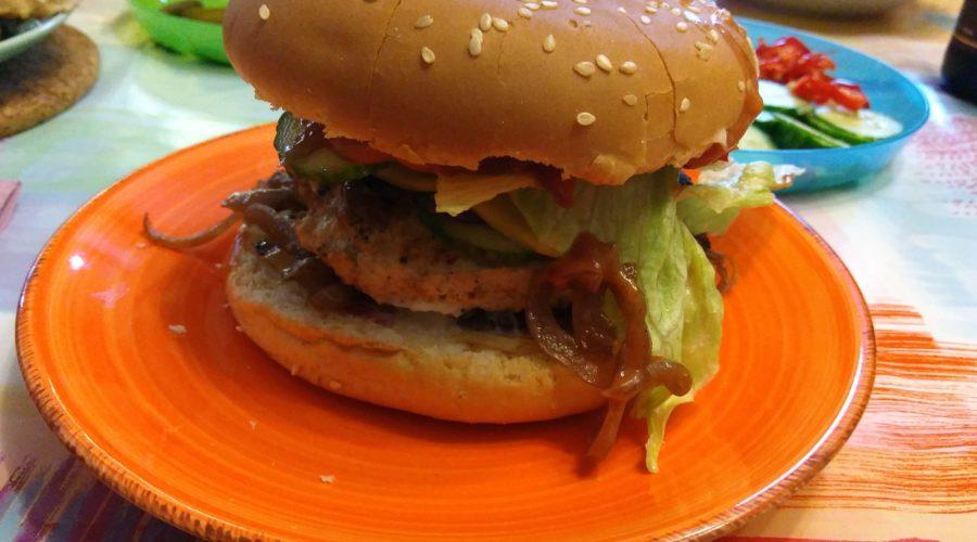 Hähnchen-Hamburger