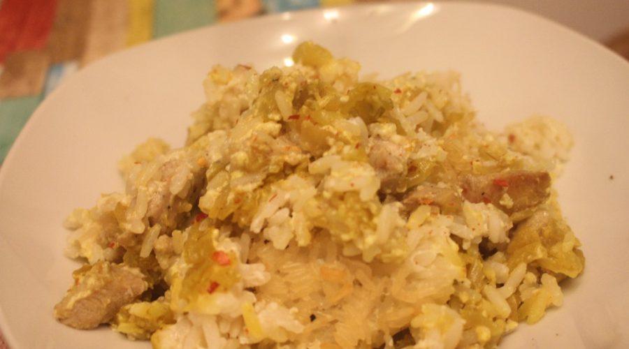 Reis-Auflauf mit mariniertem Hähnchenbrustfilet