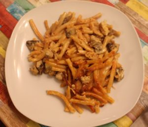 Italienischer Pasta-Carne-Funghi-Auflauf